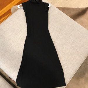 DVF grey turtleneck dress